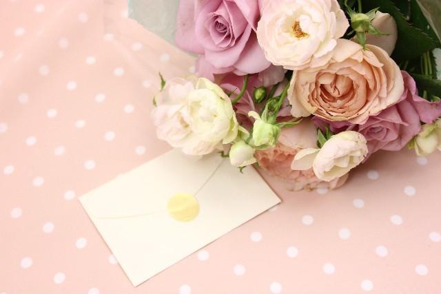 メッセージを添えて花のプレゼント.jpg